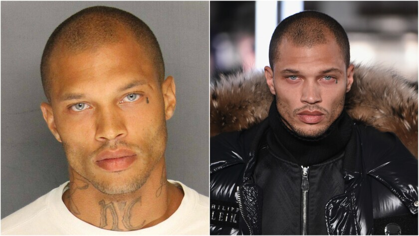 Jeremy Meeks became an Internet sensation after his police booking photo was released. He was one of four men arrested on June 18, 2014, in raids in Stockton, Calif. On Monday night, Meeks modeled during designer Philipp Plein's New York Fashion Week debut.