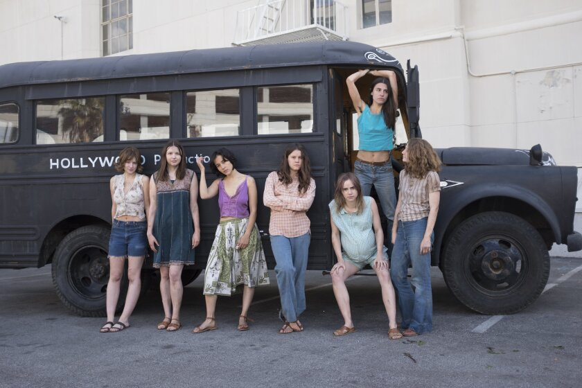 (L-R)- Sosie Bacon as ?Patricia Krenwinkel?, Hannah Murray as ?Lesli Van Houten?, Suki Waterhouse as