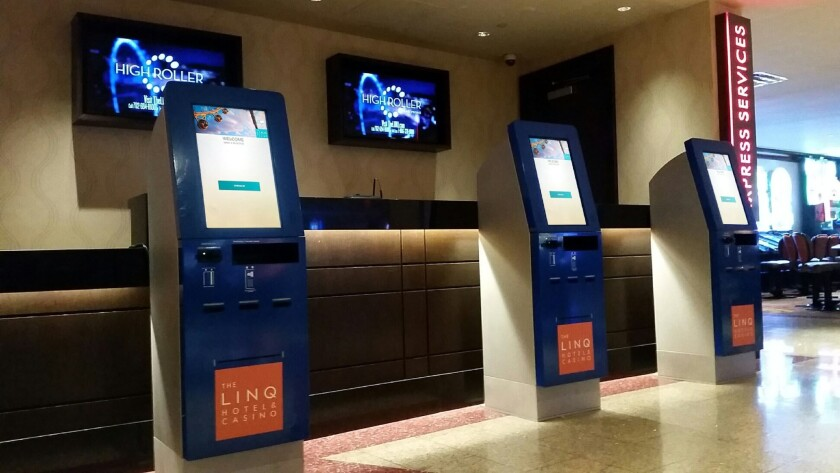 Las Vegas hotel check-in kiosks