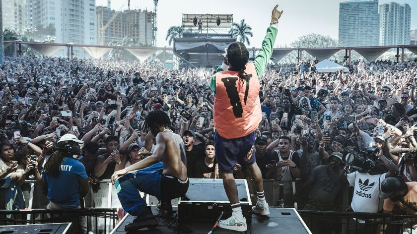 Rolling Loud and the new look of the hip-hop festival: The Playboi Carti and A$AP Rocky in performance at Rolling Loud, Miami, 2017.