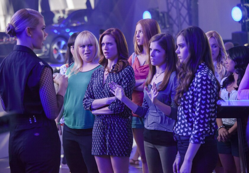 "Shown is a scene from ""Pitch Perfect 2,"" which garnered $70.3 million at the box office this weekend."