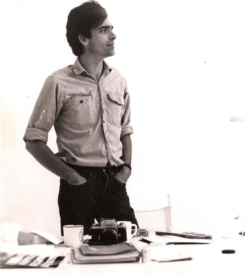 Peter Alexander in his studio in the 1960s.