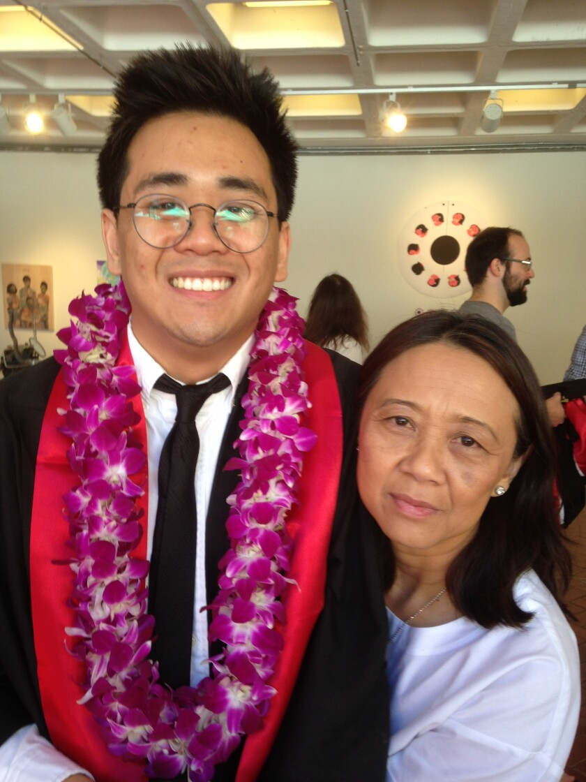 Author Anthony Veasna So with his mother, Ravy So.