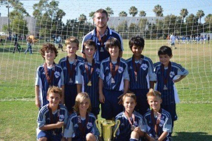 Del Mar Carmel Valley Sharks Boys U9 White team wins tournament