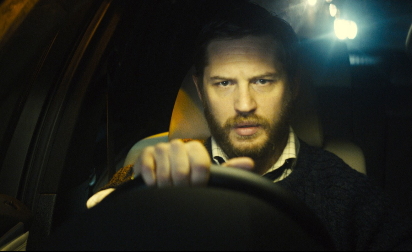 """Tom Hardy as Ivan Locke in """"Locke,"""" a drama that takes place in the confines of a car."""