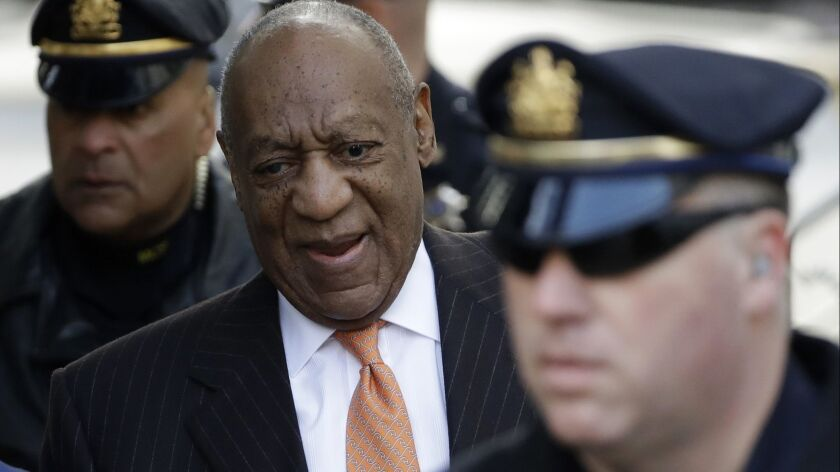 Bill Cosby arrives at the Montgomery County Courthouse in Norristown, Pa., on Tuesday.