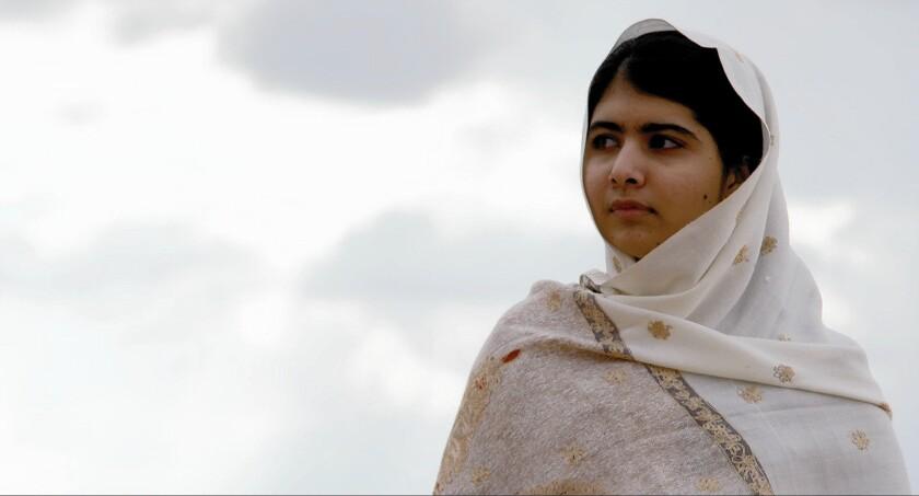 "Malala Yousafzai in the documentary ""He Named Me Malala."""