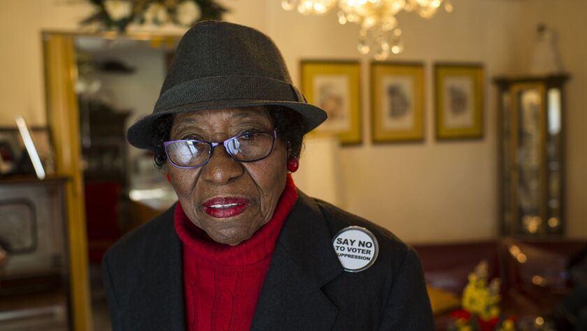 Rosanell Eaton brings a lawsuit over North Carolina's controversial voter ID law