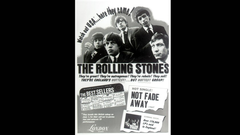 A Rolling Stones ad from May 1964.