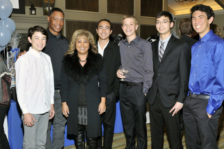 Nathan, Marcus Allen, Fresh Start Surgical Gifts CEO Shari Brasher, Max, Evan, Ethan, Braden