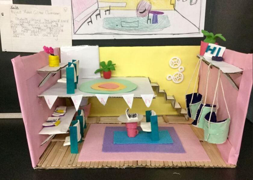 Carmel Del Mar student Kaila created a classroom with loft space.