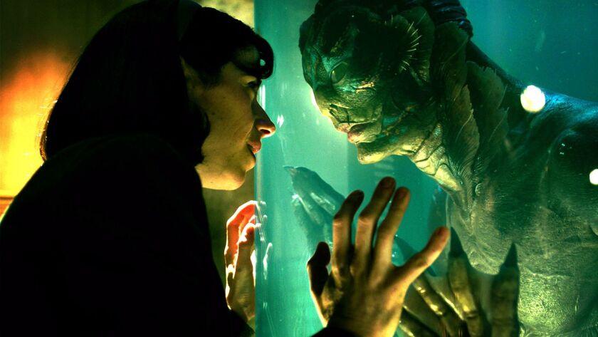 "Sally Hawkins and Doug Jones in ""The Shape of Water."""