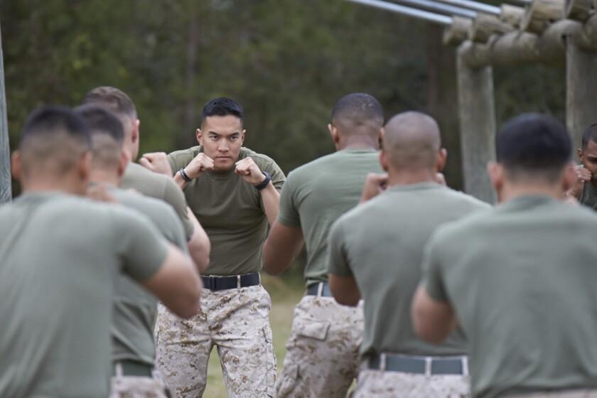 1st Lt. David Pham leads a training exercise.