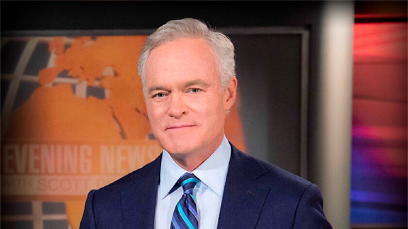 CBS anchor Scott Pelley says Web users look to the evening