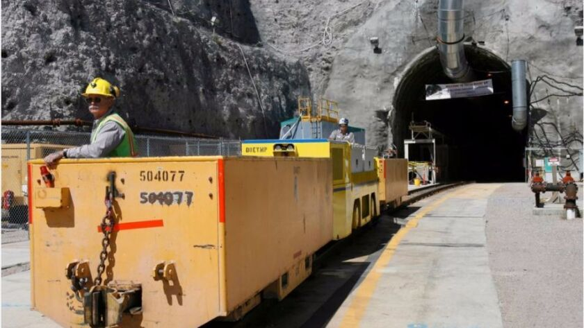 The Yucca Mountain nuclear waste respository in rural Nevada has never actually taken any spent fuel.