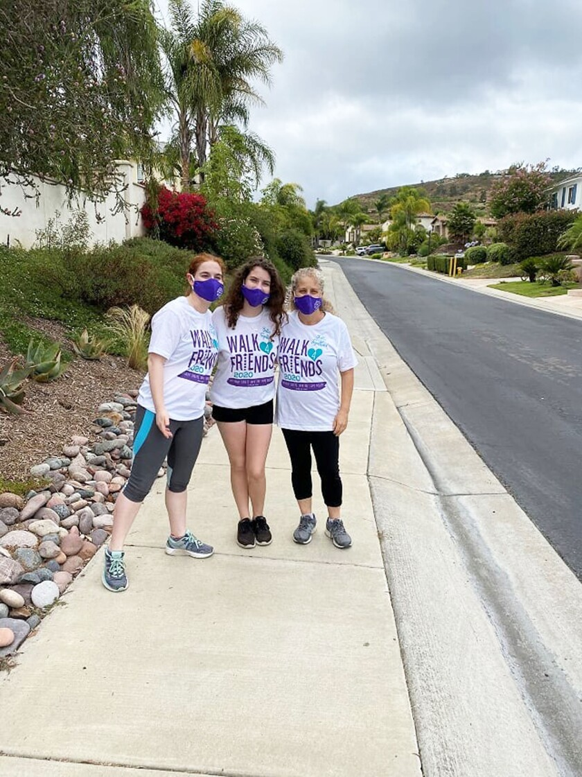The Levinson family during their Friendship Walk.