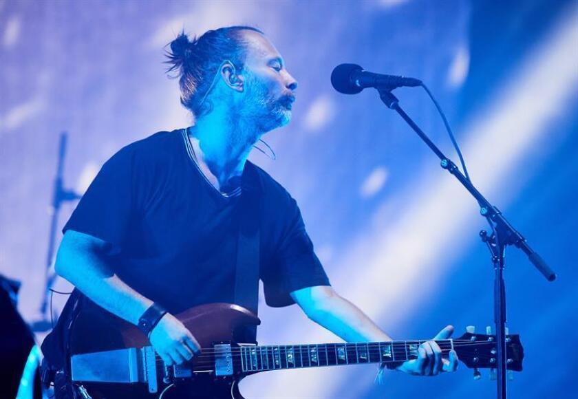El vocalista de la banda de rock británica Radiohead, Thom Yorke. EFE/SOLO USO EDITORIAL
