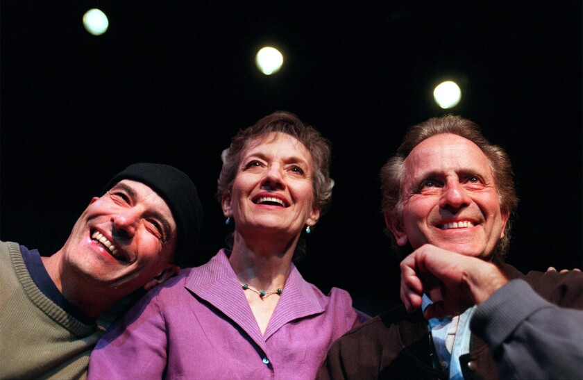 Phyllis Frelich with Bob Steinberg, left, and Mark Medoff in 2001.
