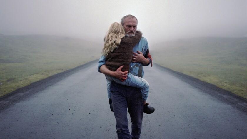 "Ída Mekkín Hlynsdóttir and Ingvar Sigurðsson in the movie ""A White, White Day."""