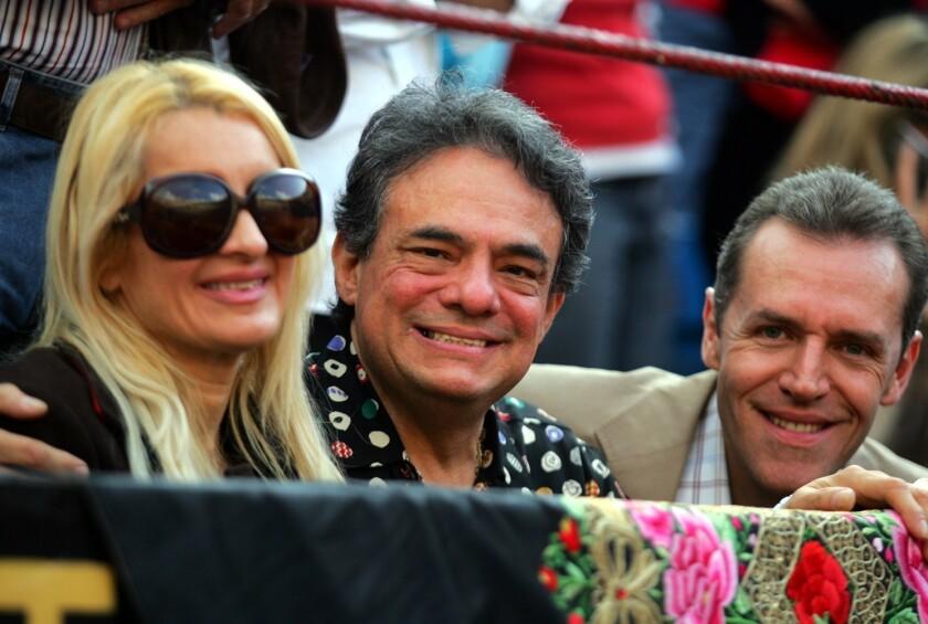 Una imagen reciente del cantante mexicano, ahora delicado de salud.
