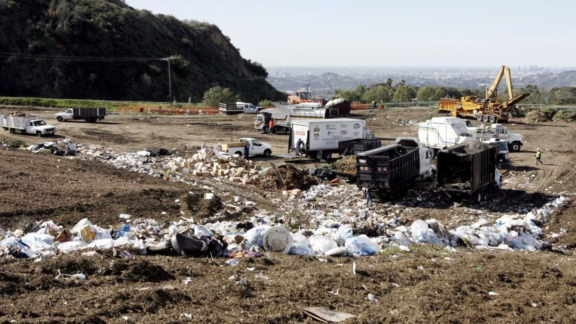 The Scholl Canyon Landfill is receiving much less trash from the 7 different cities that are allowed