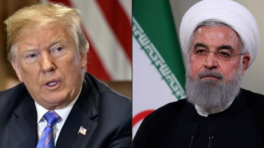 President Trump and Iranian President Hassan Rouhani.