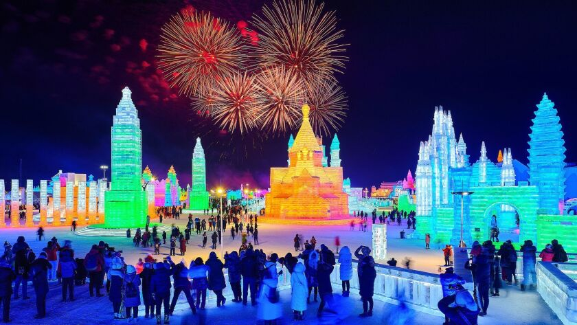 35th Harbin International Ice And Snow Festival Kicks Off