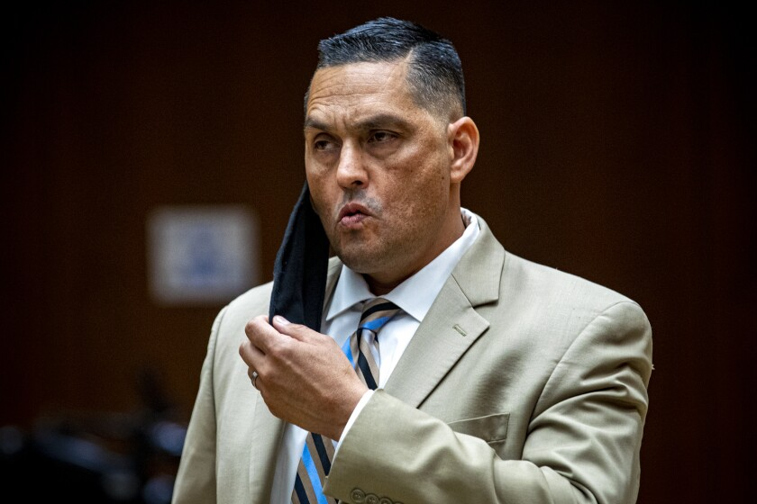 LAPD Officer Frank Hernandez pleaded not guilty to assault charges