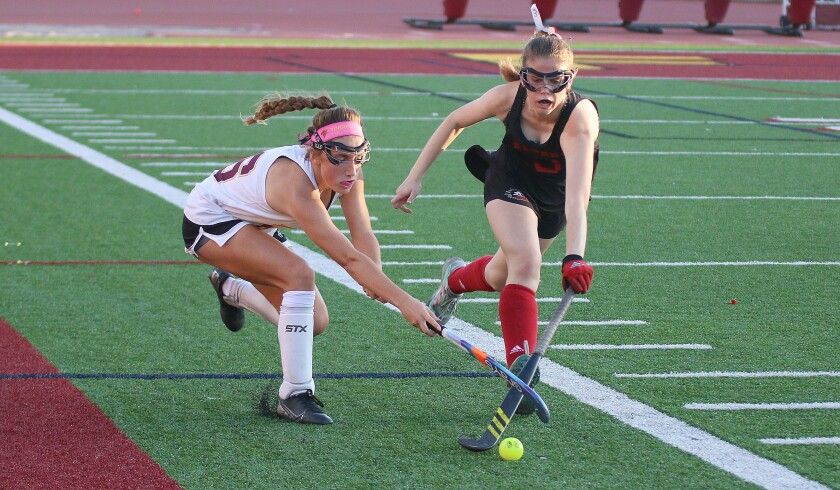 Freshman Stella Mikolajewski (#16) scored two goals for Torrey Pines.
