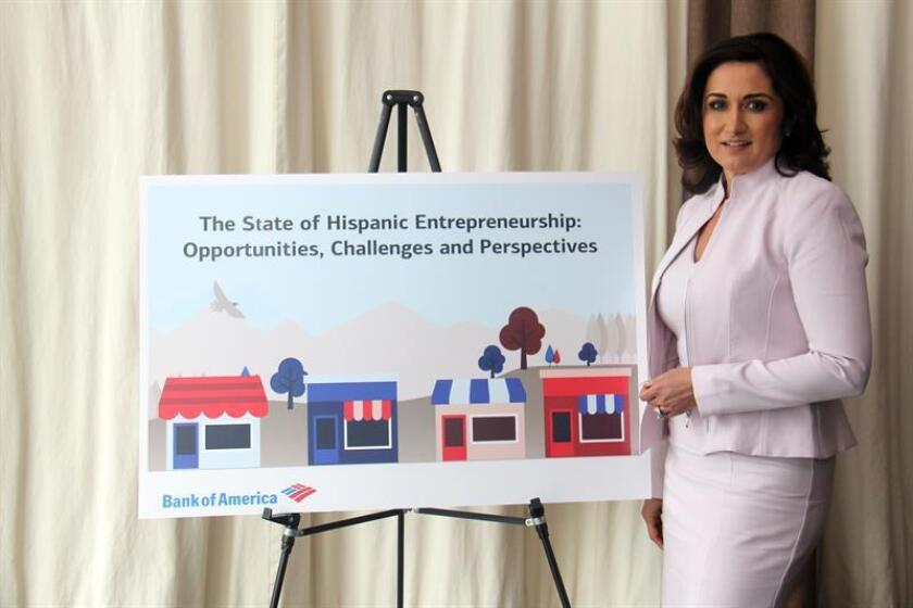 The executive of the Bank of America Small Business Division, Elizabeth Romero, poses for EfE during an interview in Houston, Texas. March 5, 2019. EPA- EFE/Ana María Alarcón