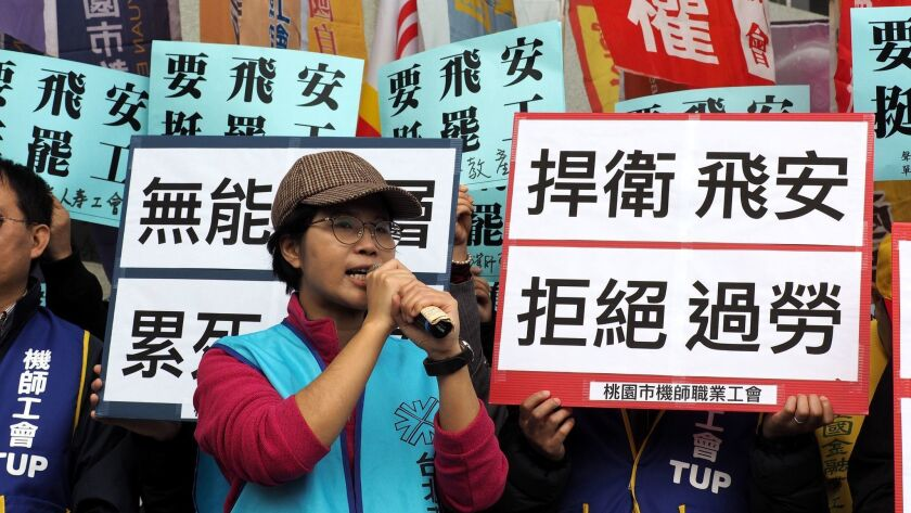 Pilots' strike of Taiwan's China Airlines drags into fourth day, Taipei - 11 Feb 2019
