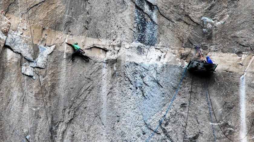 Kevin Jorgeson climbs Pitch 15 on El Capitan