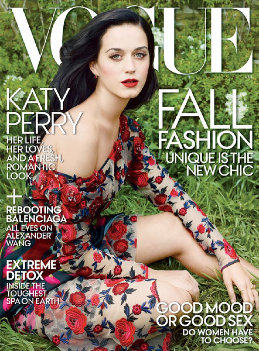 Katy Perry on the cover of Vogue magazine's July 2013 issue.