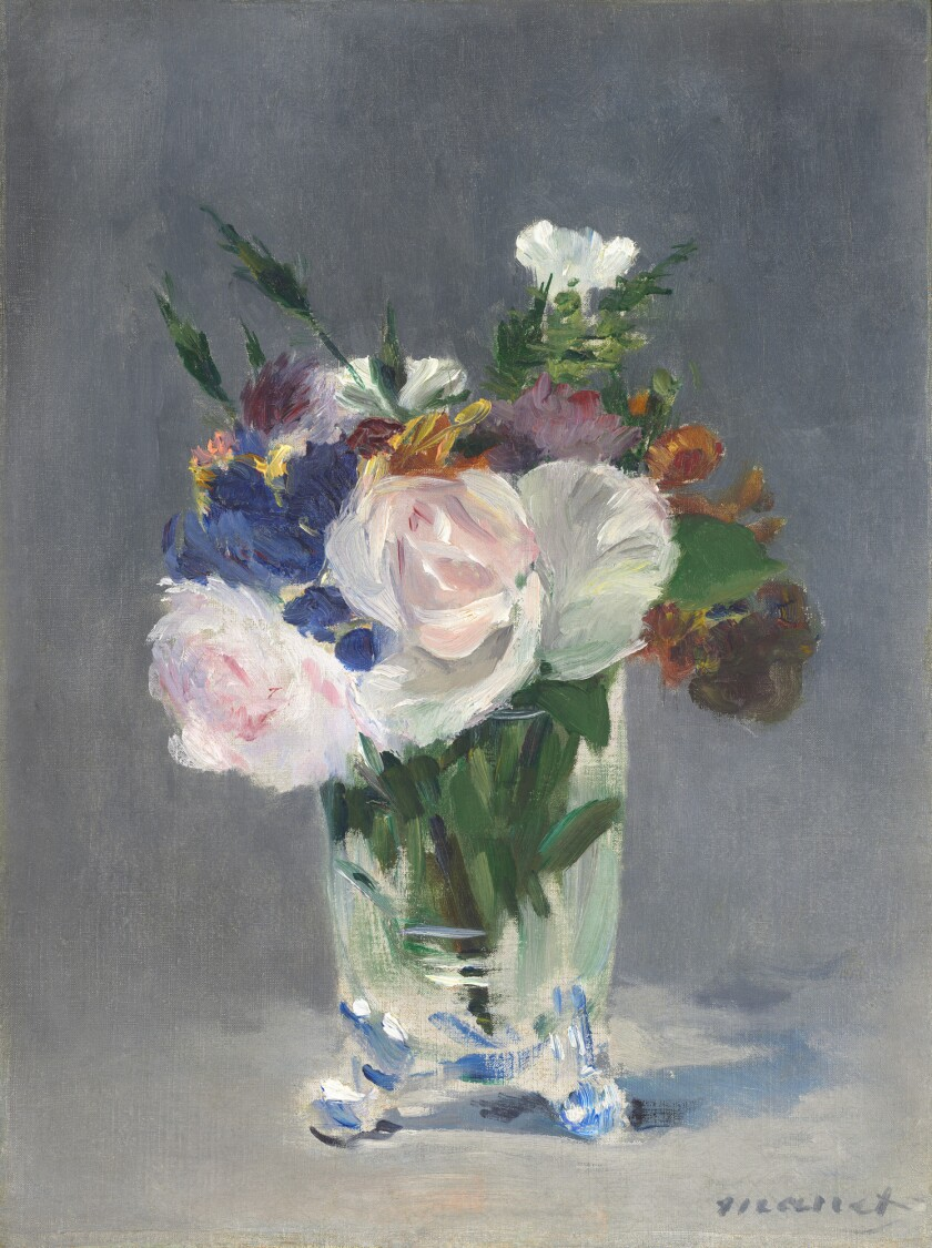 """Edouard Manet, """"Flowers in a Crystal Vase,"""" circa 1882, oil on canvas."""