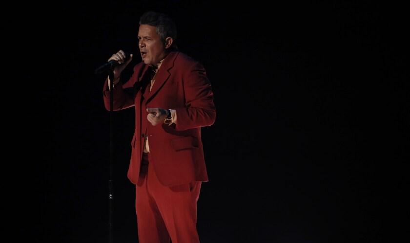 El cantante español Alejandro Sanz.