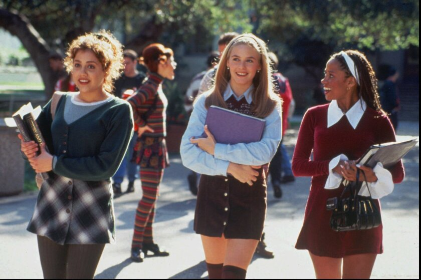 """Brittany Murphy, Alicia Silverstone and Stacey Dash in the movie """"Clueless."""""""