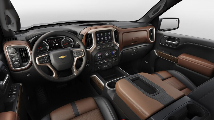 The all-new 2019 Silverado High Country interior features more passenger room, more storage space an