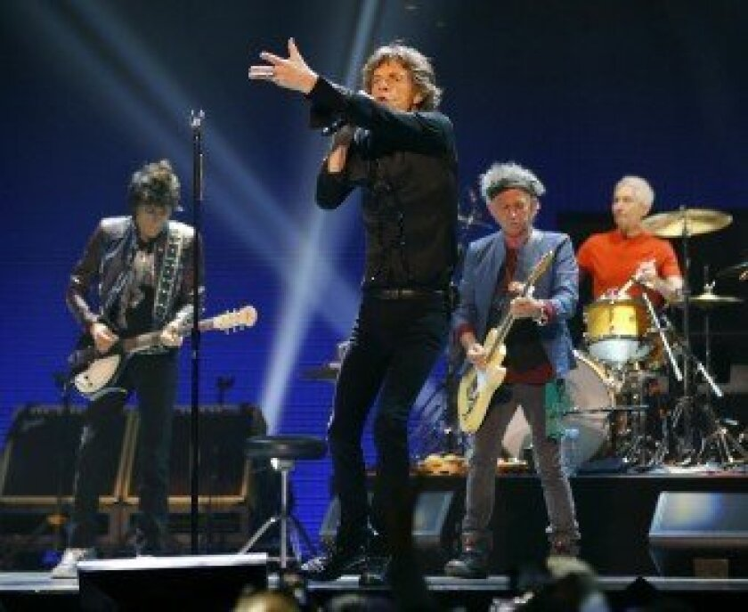 The Rolling Stones perform in Anaheim. Photo/Mike Blake