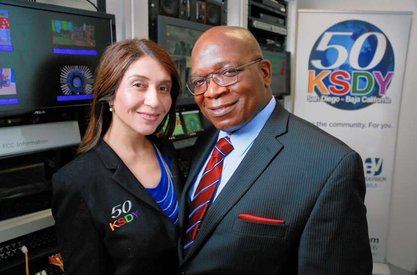 Michelle Diaz Agha and her husband, Maxwell C. Agha, own KSDY-TV Channel 50, a small station in San Diego that could be one of many knocked off the air involuntarily by the federal government.