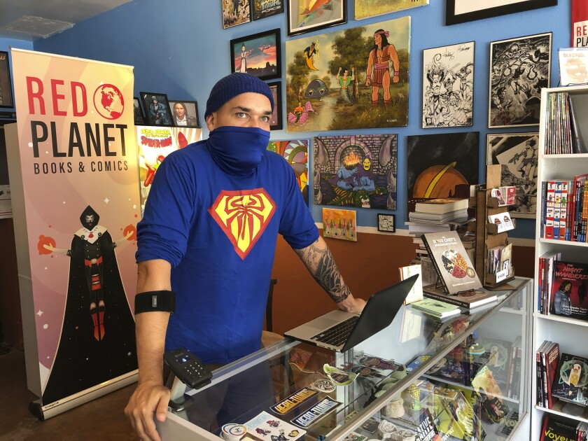 Aaron Cuffee of Red Planet Books & Comics in Albuquerque.