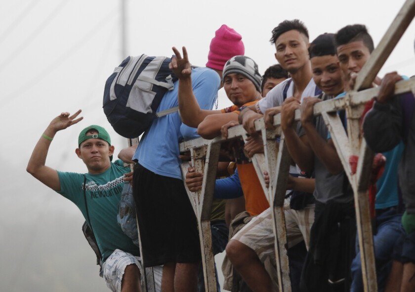 APTOPIX Honduras Migrant Caravan
