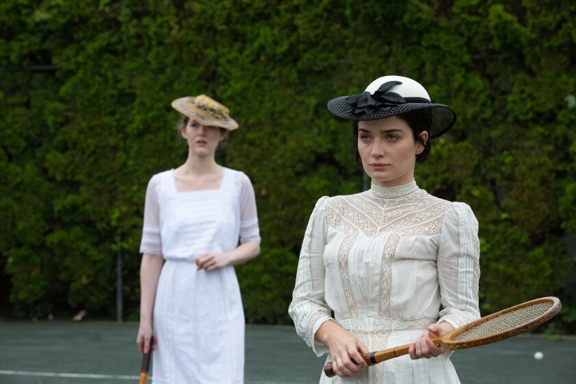 """Eve Hewson, right, in the movie """"Tesla."""""""