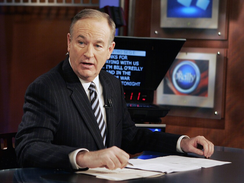 """Bill O'Reilly appears on the Fox News Channel show """"The O'Reilly Factor."""""""
