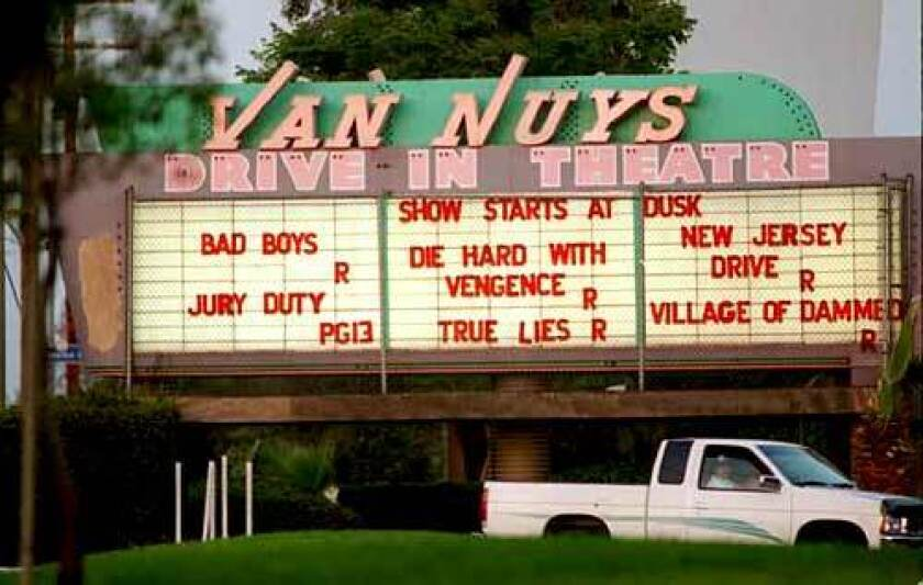 Marquee of the Van Nuys Drive-In Theatre