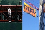 Banners opposing President Trump hanging nationwide