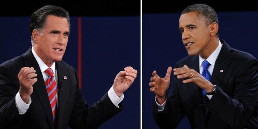 Presidential debate: Romney endorses Obama