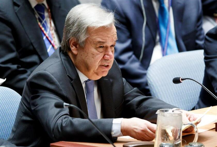 El secretario general de las Naciones Unidas, Antonio Guterres. EFE/Archivo