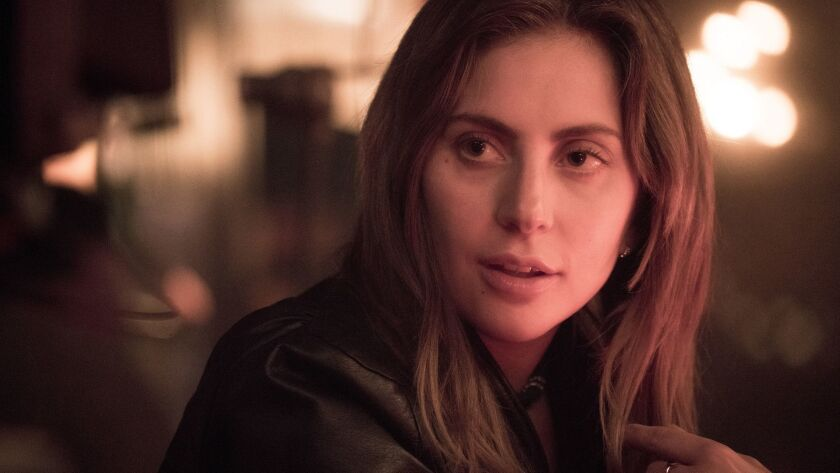 """This image released by Warner Bros. shows Lady Gaga in a scene from the latest reboot of the film, """""""