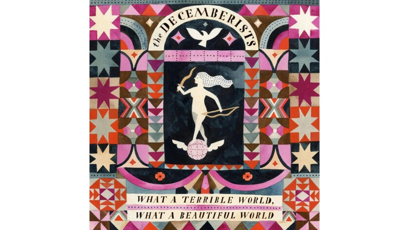 """The cover of """"What a Terrible World, What a Beautiful World"""" by the Decemberists."""