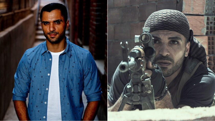 """Sammy Sheik, who plays an insurgent sniper in Clint Eastwood's """"American Sniper,"""" says his roles are more complex now, including playing a U.S. soldier on """"NCIS: Los Angeles."""""""
